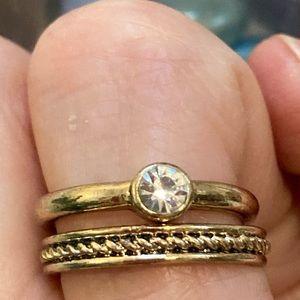 Engagement Ring Set Simulated Diamond